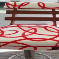 Bar Stool-Red Circles