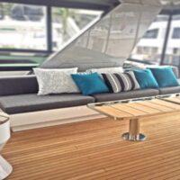Flybridge Starboard Lounge-Hatteras M90-201-Link Napsack Carbon- Image # 1229