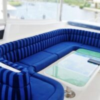 Striped Sunbed Lounge-Cavalino with Comfort Roll-Image #1206